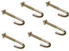 "HOOK BOLTS 4"" SET OF SIX WITH NUTS"